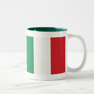 Two-colored cup green Italy flag