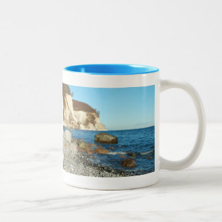 Two-colored cup light blue chalk rock on