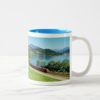 Two-colored cup light blue large Alpsee