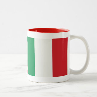 Two-colored cup red Italy flag