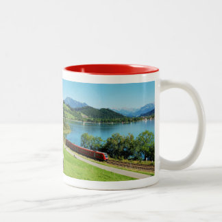 Two-colored cup red large Alpsee Immenstadt