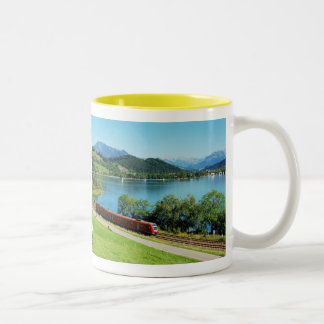 Two-colored cup yellow large Alpsee Immenstadt