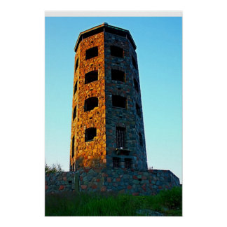 Two Colored Enger Tower Print