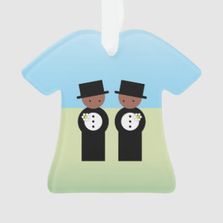 Two colored grooms