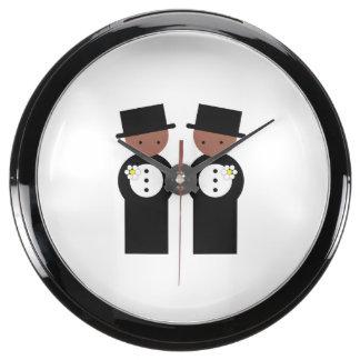Two colored grooms aquavista clocks