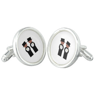 Two colored grooms cufflinks