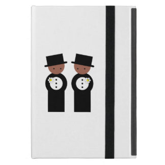 Two colored grooms iPad mini case