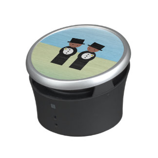 Two colored grooms speaker