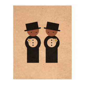 Two colored grooms cork fabric