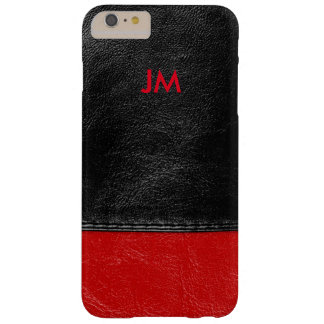 Two colored leather with initials barely there iPhone 6 plus case