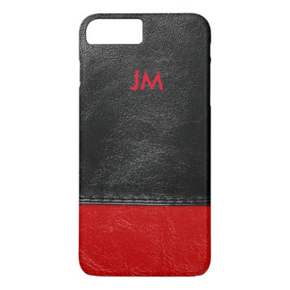 Two colored leather with initials iPhone 8 plus/7 plus case