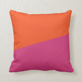 TWO-COLORED ORANGE AND CERISE | PILLOW