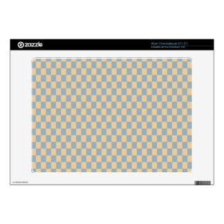 Two colored square pattern acer chromebook decal