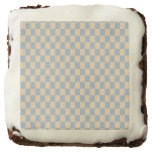 Two colored square pattern brownie