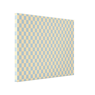 Two colored square pattern canvas prints
