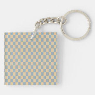 Two colored square pattern Double-Sided square acrylic keychain