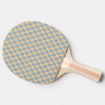 Two colored square pattern ping pong paddle