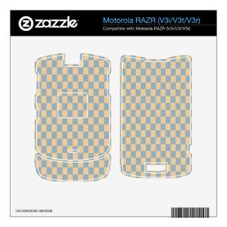 Two colored square pattern skins for motorola RAZR