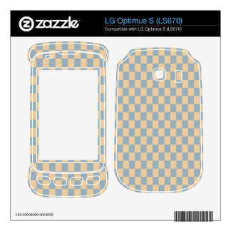 Two colored square pattern LG optimus s skins