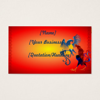 Two Colorful Fighting Roosters profilecard_busi... Business Card