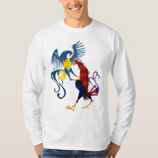 Two Colorful Fighting Roosters Shirt