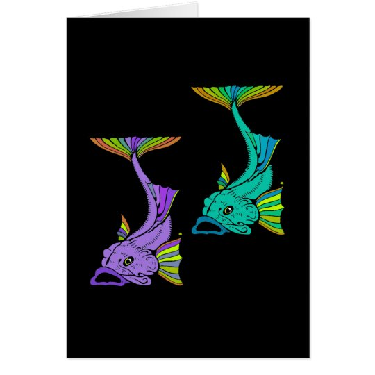 Two Colorful Fish Card