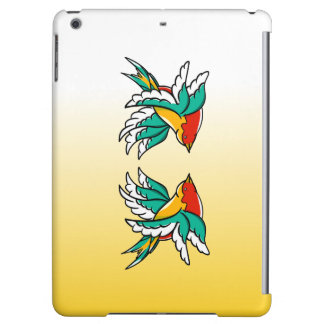 Two Colorful Flying Swallows Tattoo Inspired iPad Air Covers