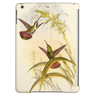 Two Colorful Hummingbirds Aiming for Same Flower iPad Air Cover