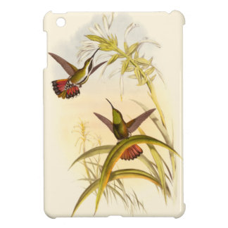 Two Colorful Hummingbirds Aiming for Same Flower iPad Mini Cover