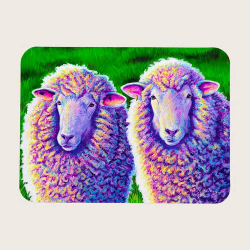 Two Colorful Sheep Flexible Magnet