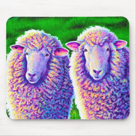 Two Colorful Sheep Mouse pad