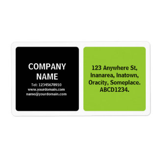 Two Colors - Black and Martian Green Shipping Labels