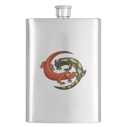 Zazzle Two Colourful Smiling Salamanders Entwined Cartoon...