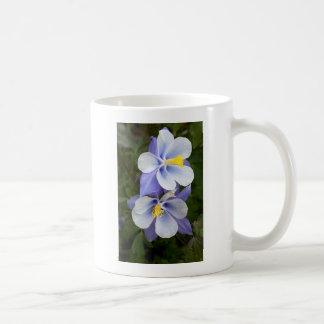 Two Columbines Classic White Coffee Mug