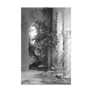 Two Columns in Black and White Canvas Print