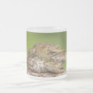 Two Common Toads Bufo Bufo Together Frosted Glass Coffee Mug