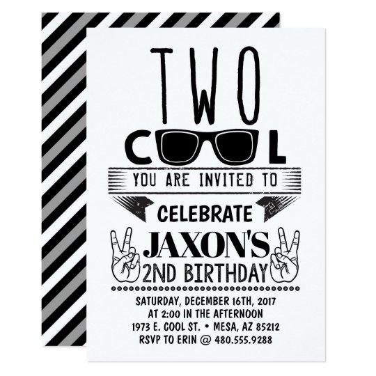 Two Cool Birthday Invitation Zazzle Com