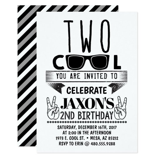 Two Cool Birthday Invitation