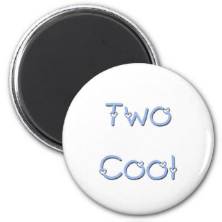 Two Cool Blue Refrigerator Magnets