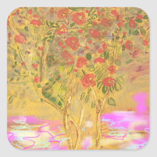 Two Cool Camellias Square Sticker