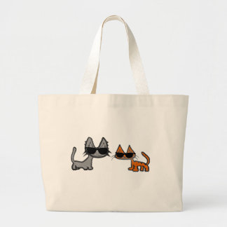 Two Cool Cats With Sunglasses On Bag