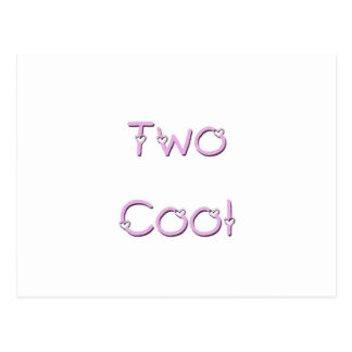 Two Cool Pink Lettering Postcard