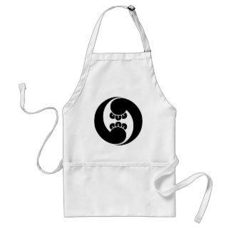 Two  counterclockwise clove swirls adult apron
