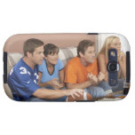 Two couples watching football in living room samsung galaxy SIII case