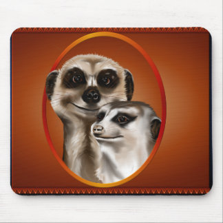 Two Cozy Meerkats Mouse Pad