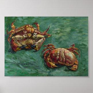 Two Crabs (F606) Van Gogh Fine Art Poster