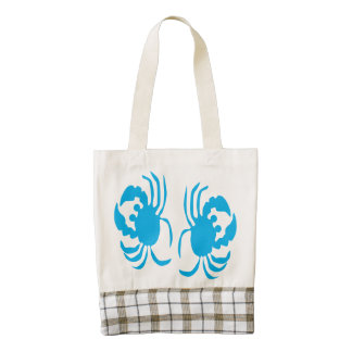 Two Crabs Zazzle HEART Tote Bag