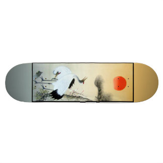 Two Cranes and a Tortoise Print Skateboard
