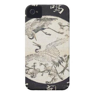 Two cranes and plum branch Katsukawa SHunsho iPhone 4 Case