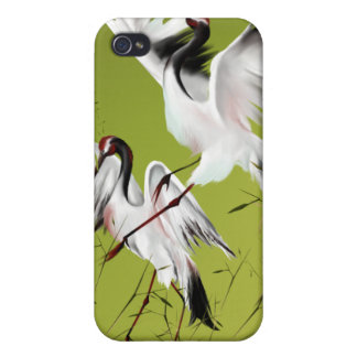 Two Cranes In Bamboo  Case For iPhone 4